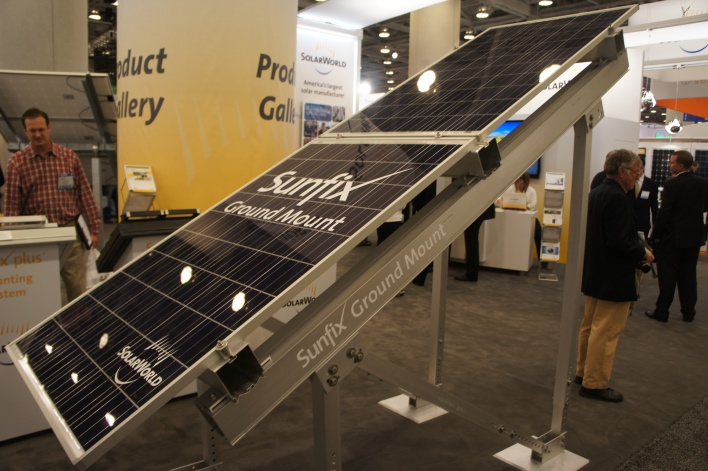 SolarWorld's ground-mounted Sunfix