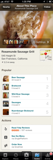 Foodspotting GrubHub