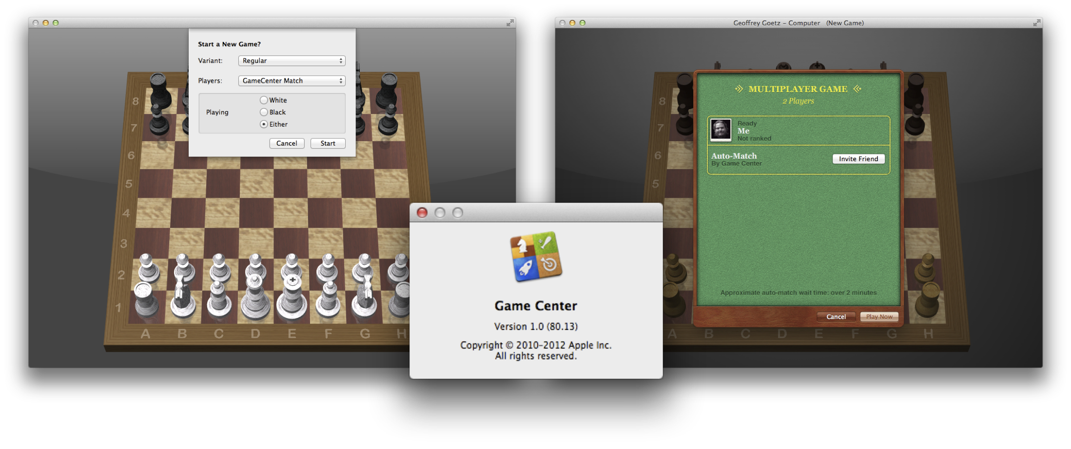 Game Center Chess