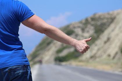hitchhiker copyright shutterstock/lexaarts