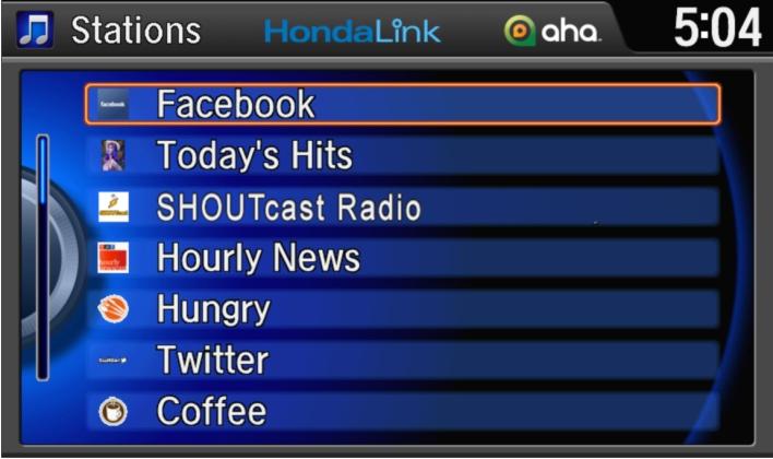 HondaLink Headunit Aha