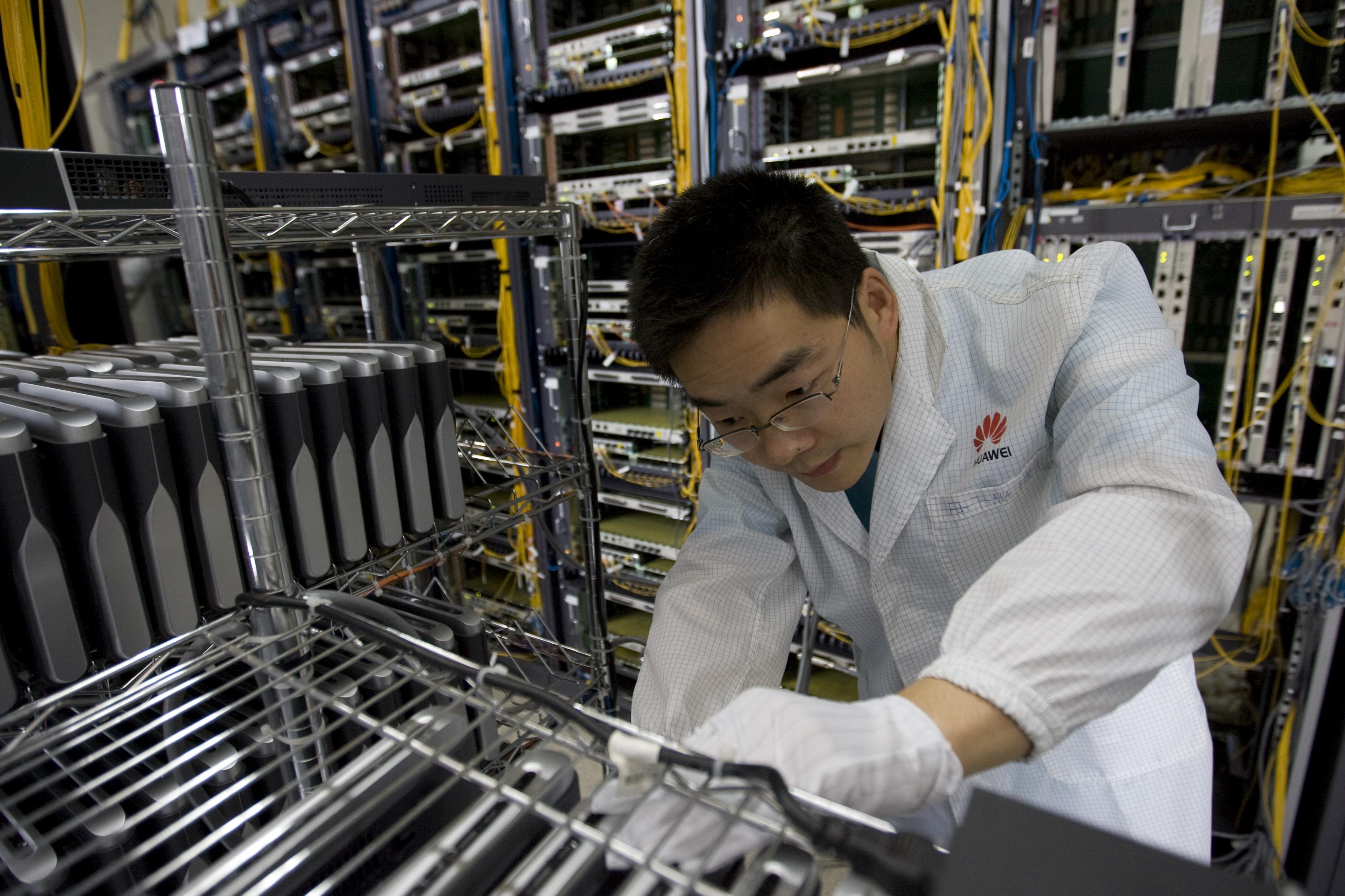 Huawei engineer equipment factory