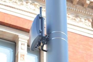 A Ruckus Wireless Wi-Fi hotspot/small cell