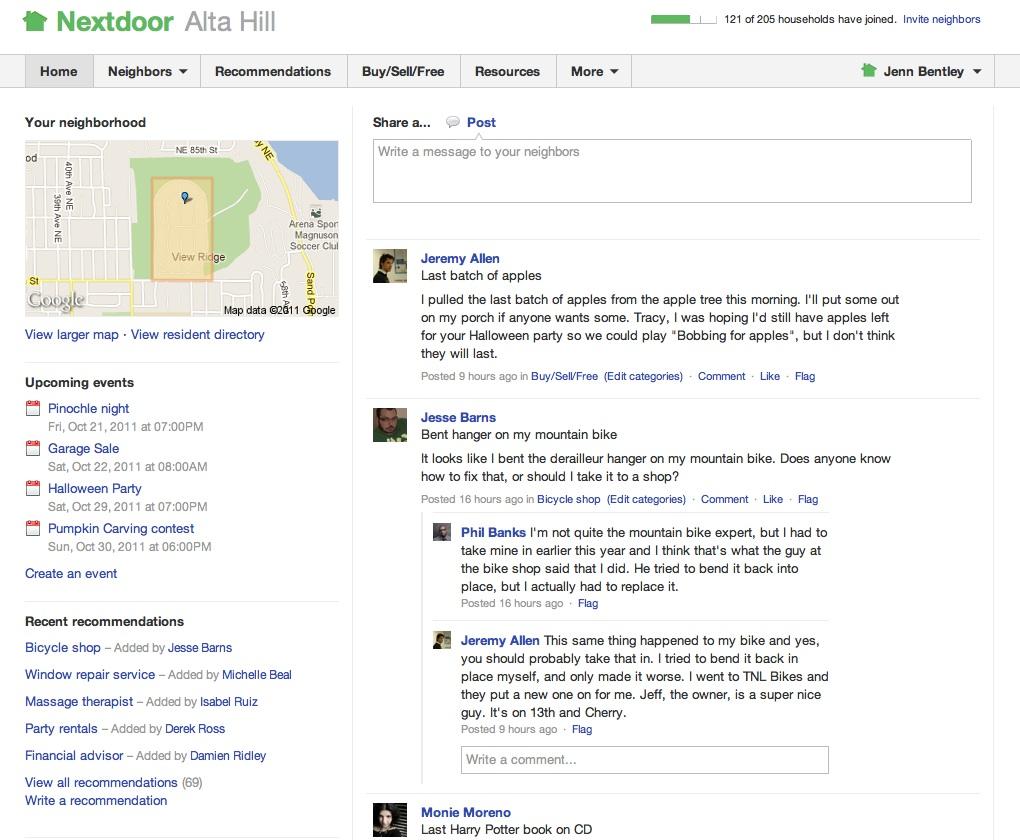 nextdoor-main-page