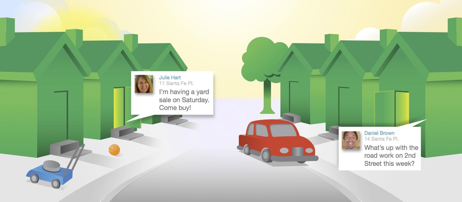 Charming Illustration Of Nextdoor Chat Session