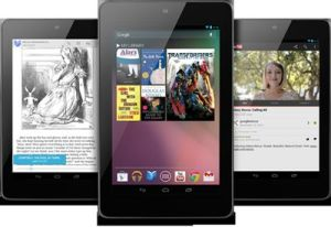 A trio of Nexus 7 tablets