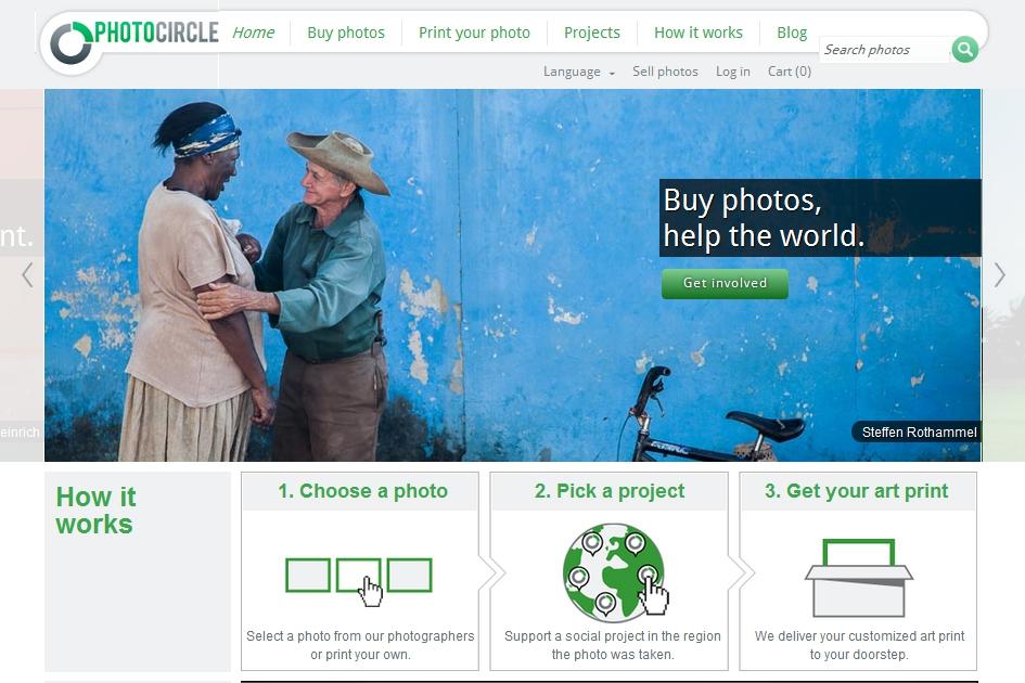 Photocircle homepage