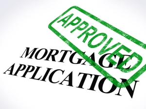 Mortgage loan approved stamp