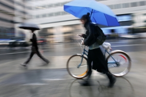 Rain phone bicycle umbrella