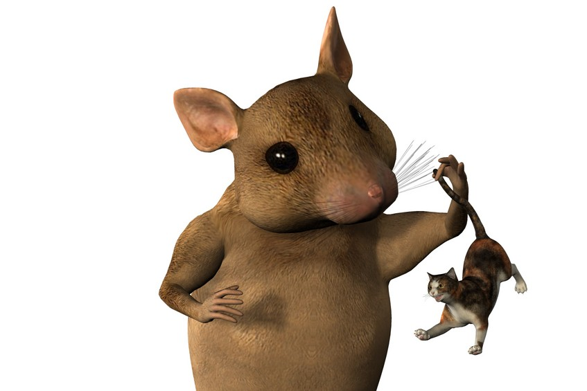 Shrinking Cat giant mouse