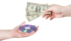Paying for software CD with US money notes