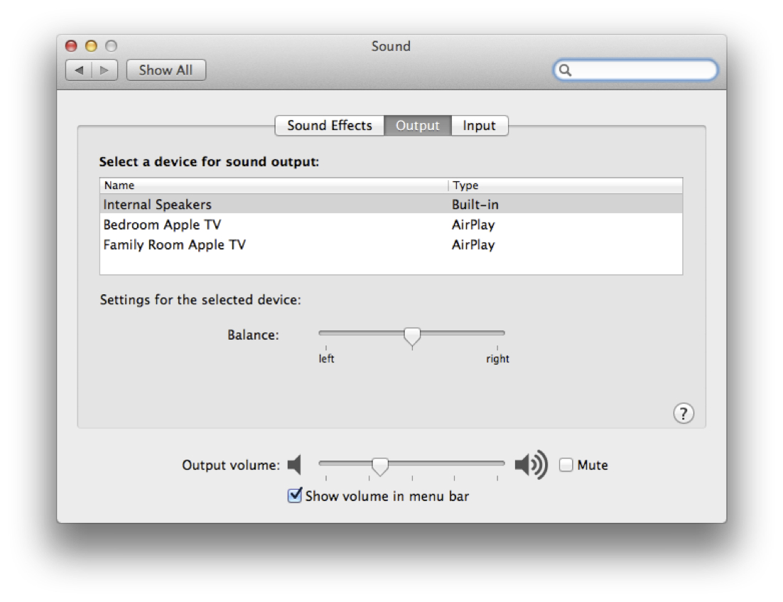 System Sound AirPlay