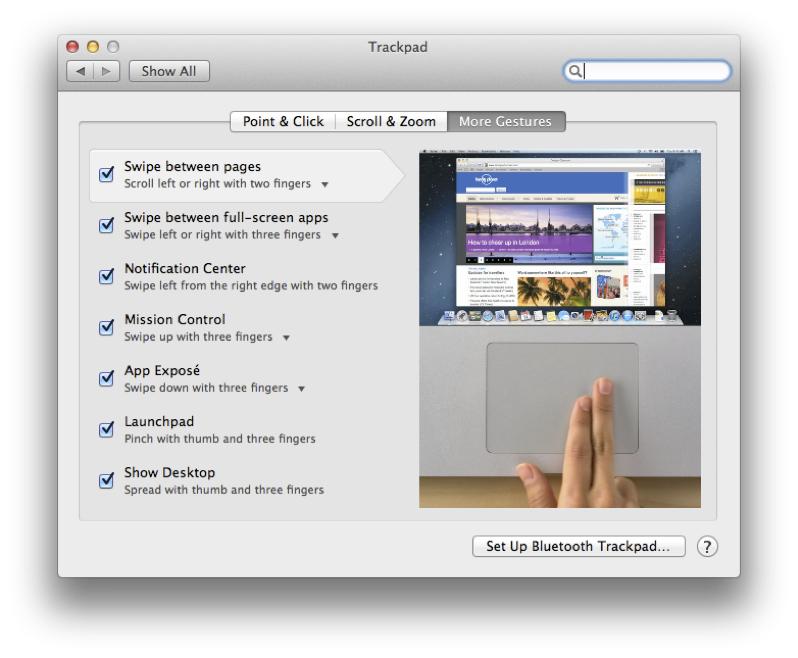 Trackpad Gestures