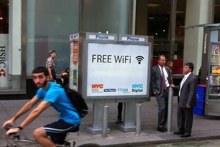 뉴욕, 공중전화 부스를 WiFi 핫스팟으로
