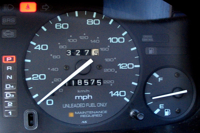 odometer/mileage gage