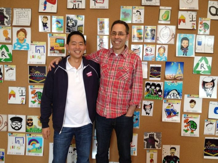 David Ko (left) with Dan Porter, CEO of OMGPOP! Photo courtesy of Zynga.)