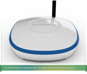 The SmartThings hub