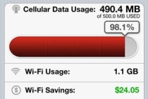 Boingo Wi-Fi Finder for iOS data usage tracking