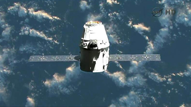dragon SpaceX in orbit