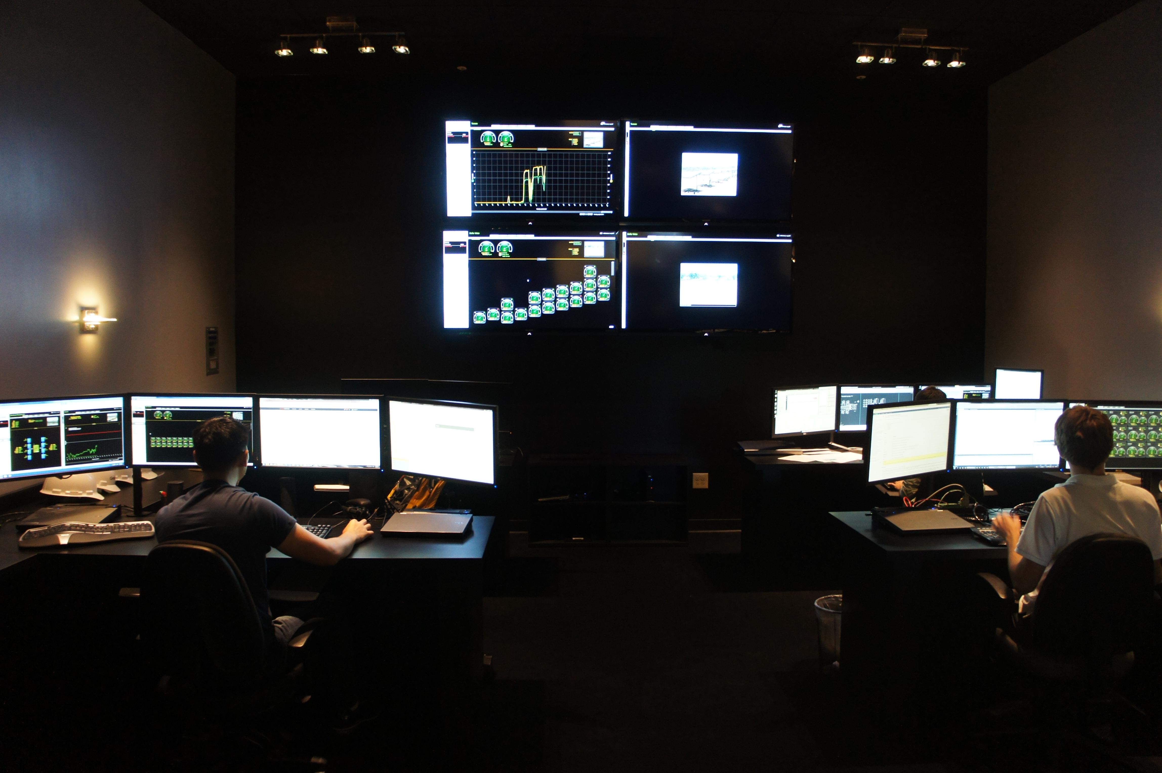 Control and monitoring center at GreenVolts