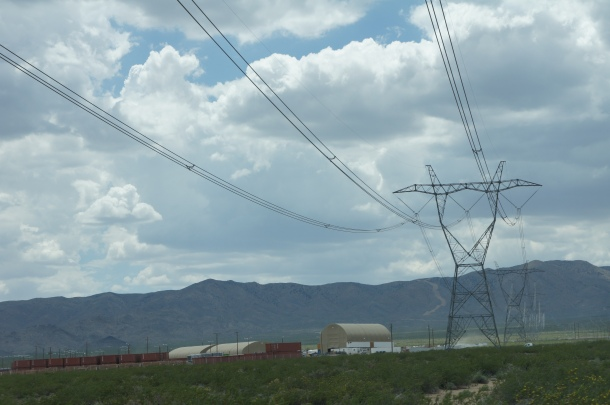 Power lines around Ivanpah