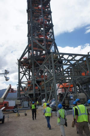 Going up in the tower of Ivanpah 1