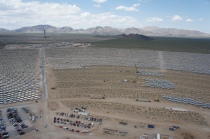 The field of heliostats around Ivanpah 1