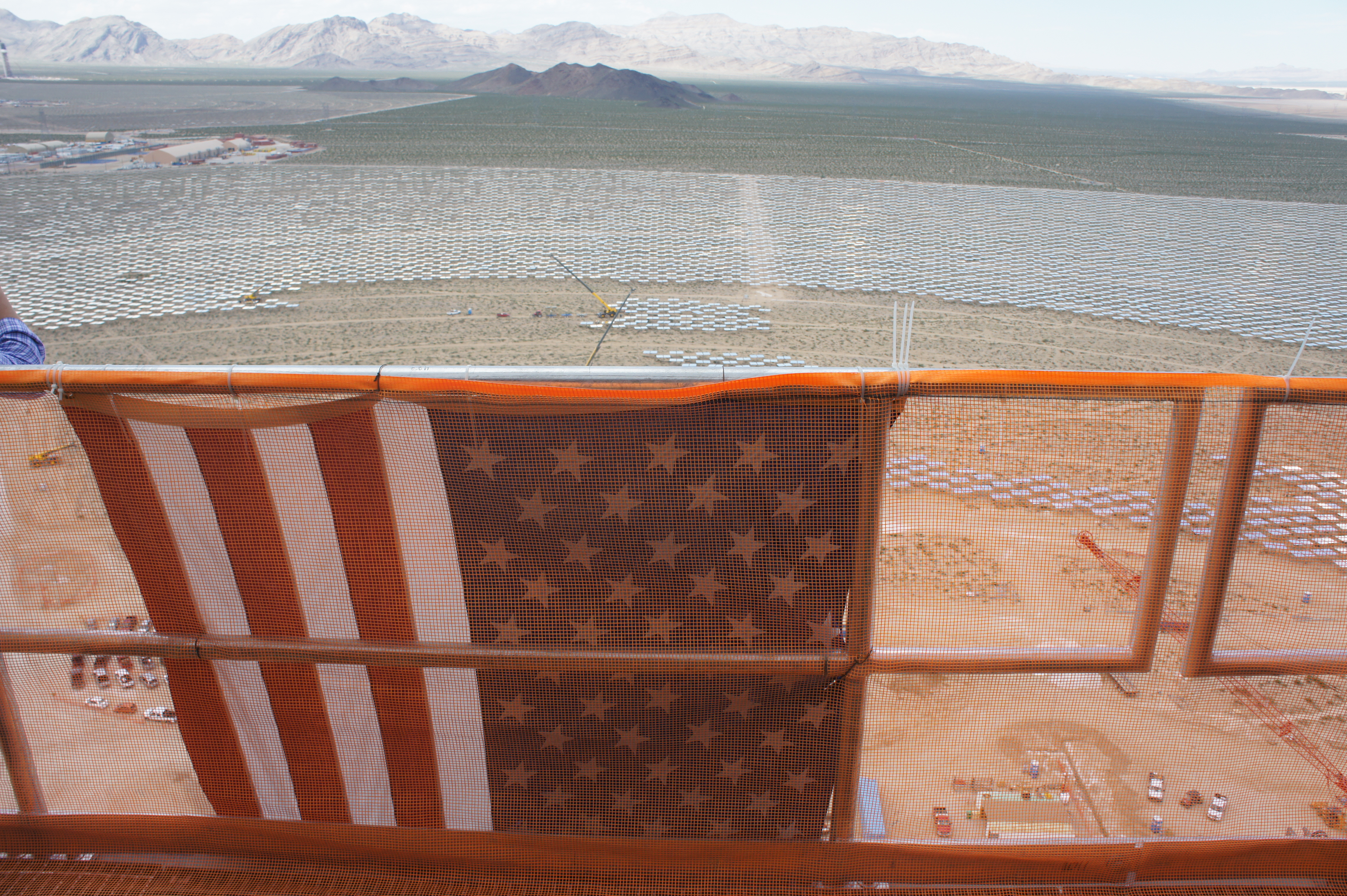 American flag at the top of the viewing platform