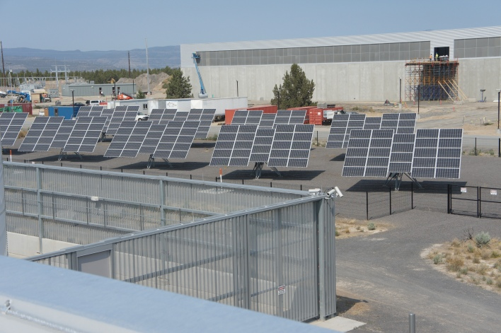 The solar field as seen from the roof