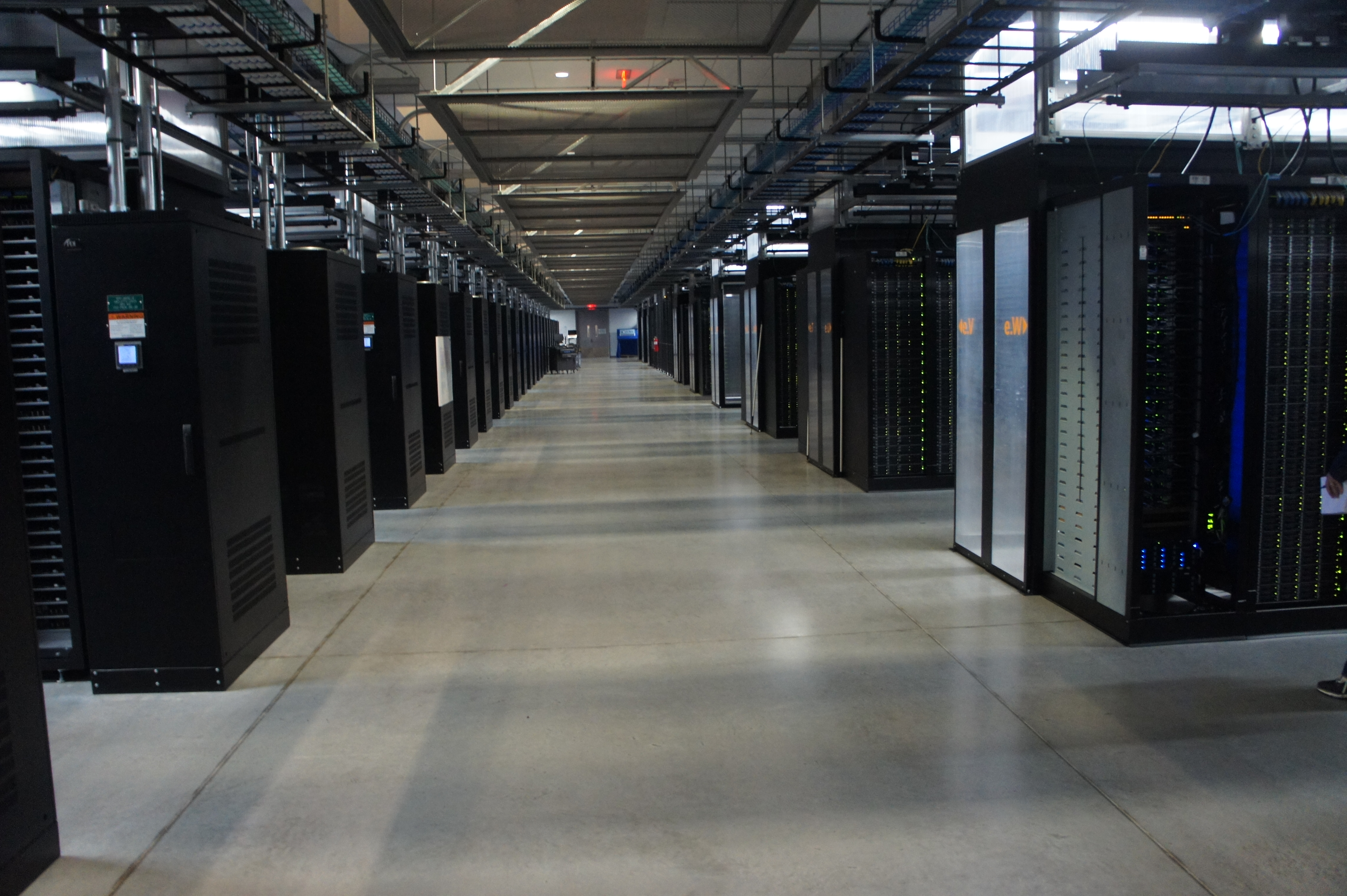 The server rooms at Facebook's data center