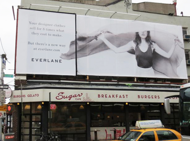 Everlane's billboard in NYC.
