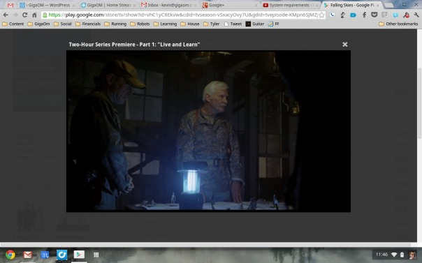 Google Play video on a Chromebook