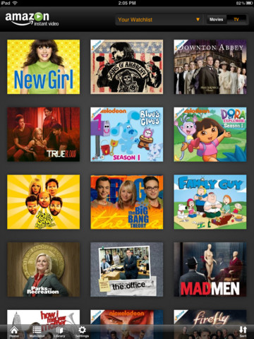 Amazon Instant Video iPad Library