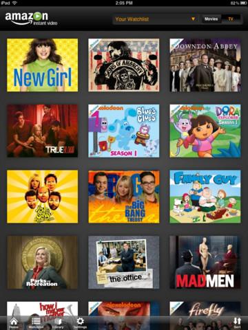 Amazon Instant Video iPad Library
