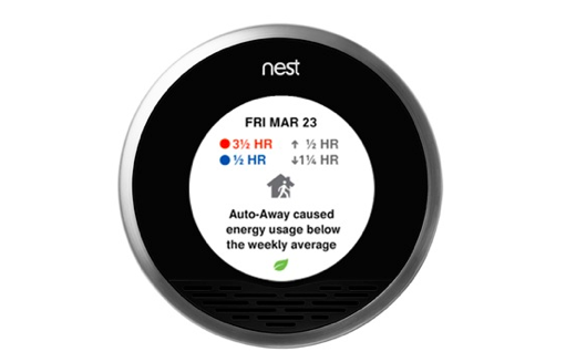 The Nest thermostat.