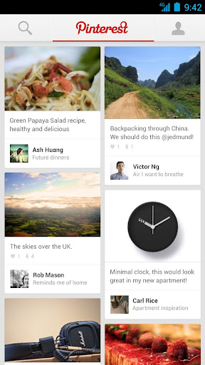 Pinterest for Android screenshot