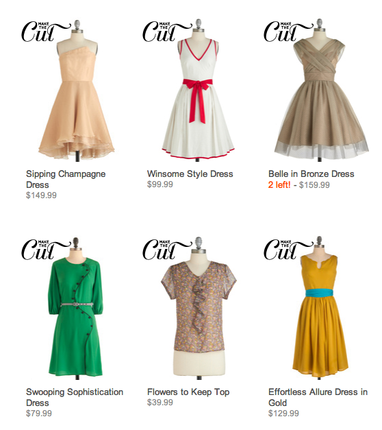 ModCloth lets customers vote on the styles they want to see.