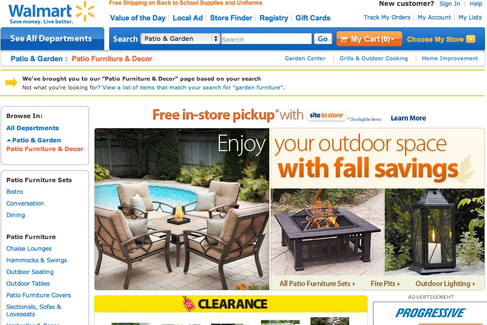 Walmart, search engine