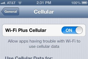 iphone 5 wifi on