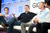 Stephen Stokols of FreedomPop, David Morken of Bandwidth.com, Elliot Noss of Tucows at Mobilize 2012
