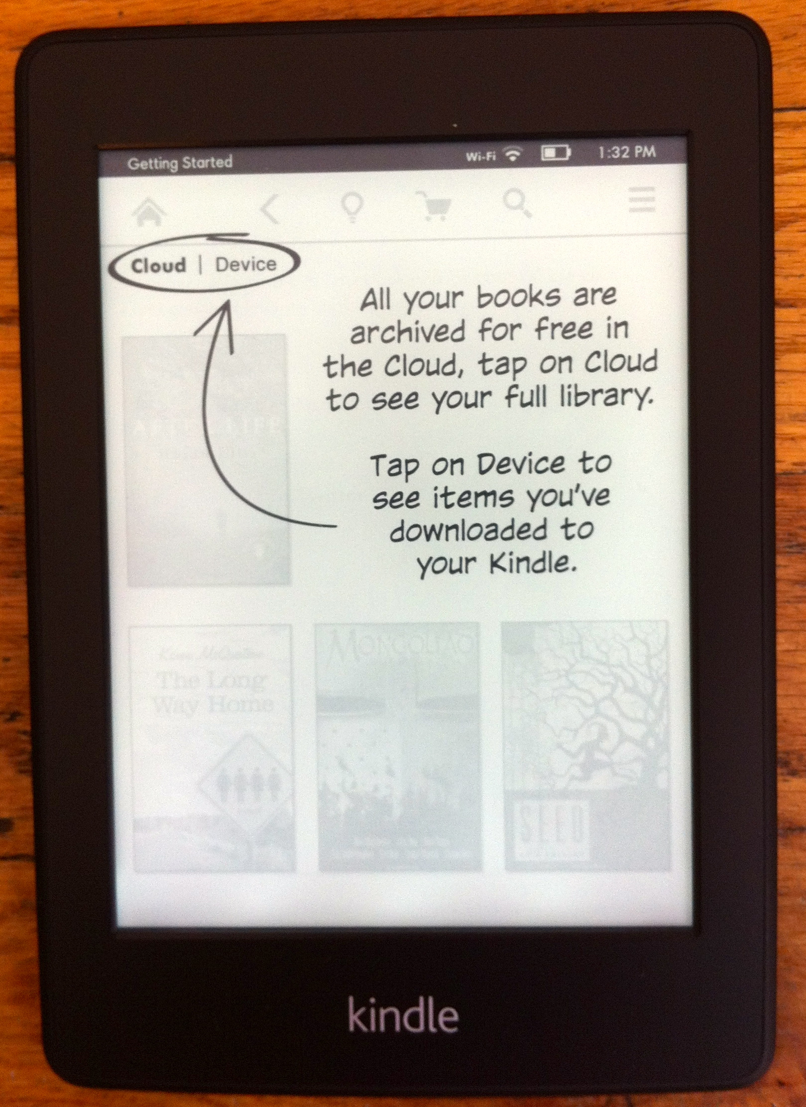 Kindle Paperwhite cloud archive