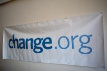 Change.org banner