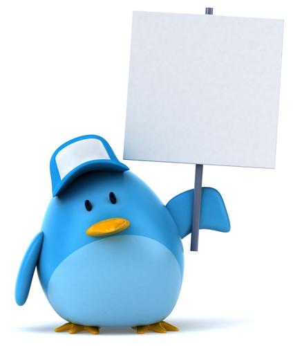 Blue bird, Twitter