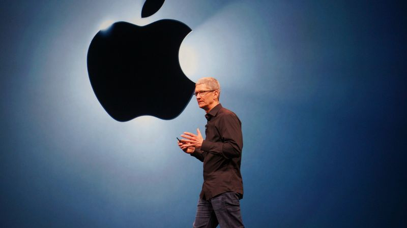 CEO Tim Cook opened the event with updates on Apple stores across the world.