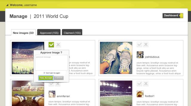 VenueSeen Instagram advertising user dashboard