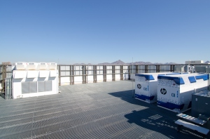 These eBay containers are air-cooled in downtown Phoenix.