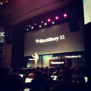 RIM CEO Thorsten Heins takes the stage at Blackberry JAM