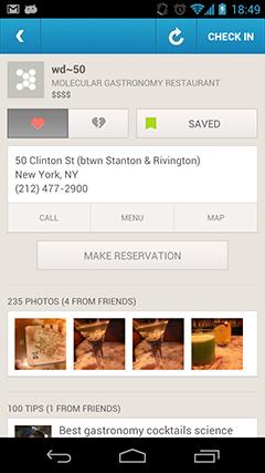Foursquare Open Table Explore