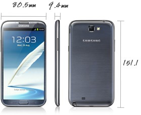 Galaxy Note 2 dimensions