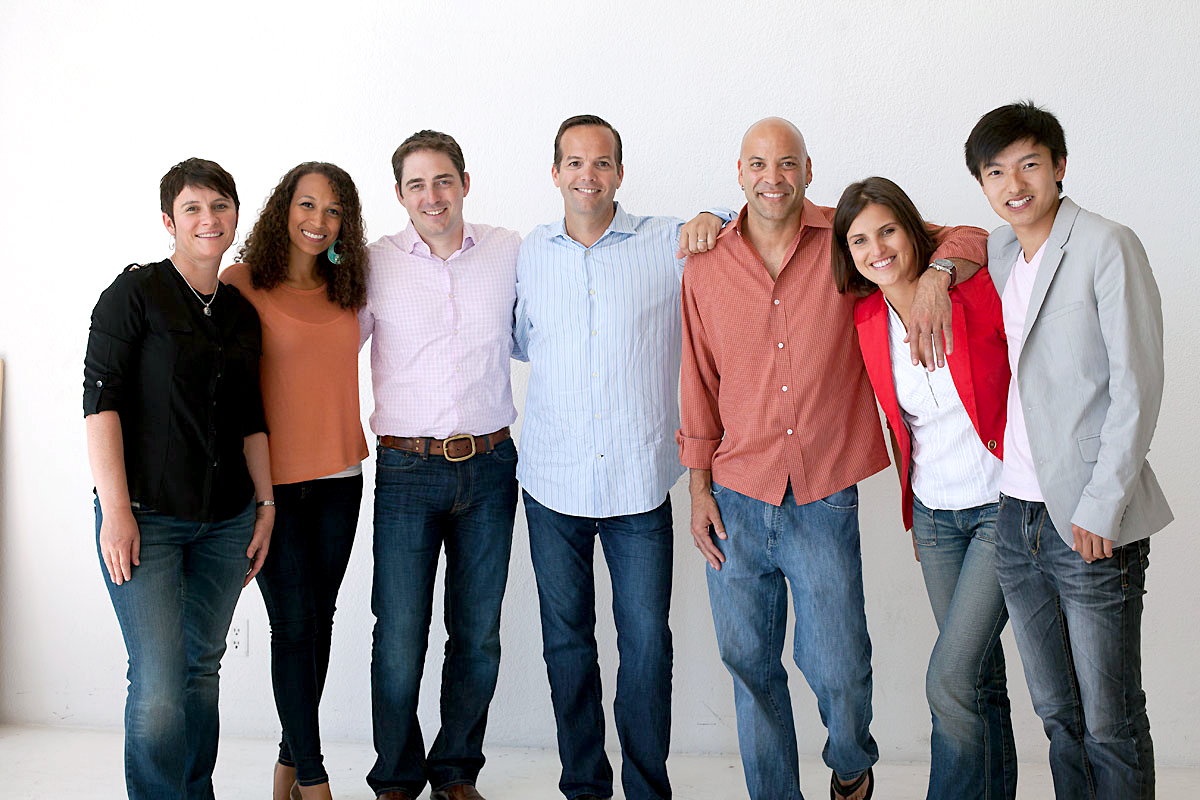 Upstart staff, with founder and CEO David Giroaurd at center.